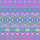 Seamless geometric pattern with ethnic motifs. Stylish abstract tribal seamless pattern in ethnic style. Modern colorful background. Geometric design royalty free illustration