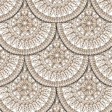 Seamless geometric pattern in fish scale design. Circle elements texture. Vector art Royalty Free Stock Images