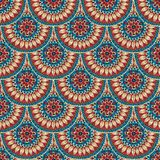 Seamless geometric pattern in fish scale design. vector illustration