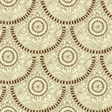 Seamless geometric pattern in fish scale design. Circle elements texture. Vector art Stock Photography