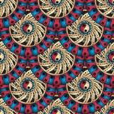 Seamless geometric pattern in fish scale design. Stock Photos