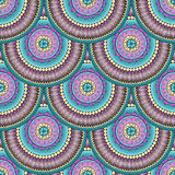 Seamless geometric pattern in fish scale design. Royalty Free Stock Photography