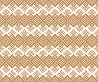 Seamless geometric pattern. Folk motif. Small ornament. Royalty Free Stock Photos
