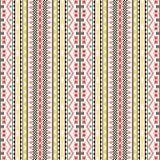 Seamless geometric pattern in folk style vector illustration