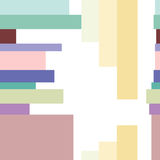 Seamless geometric pattern. And gentle colors Royalty Free Stock Images