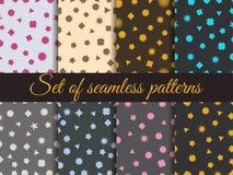 Seamless geometric pattern. Geometric chaos. Wrapping paper. Set seamless pattern with geometric figures. Royalty Free Stock Image