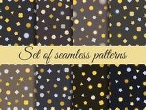 Seamless geometric pattern. Geometric chaos. Wrapping paper. Set seamless pattern with geometric figures. Royalty Free Stock Photo
