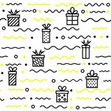 Seamless geometric pattern with Gift, vector illustration Stock Images
