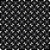 Seamless geometric pattern. Gray squares, diamonds and circles on a white background. Vector. Royalty Free Stock Photography