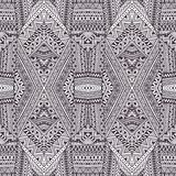 Seamless geometric pattern. Gray and white ornament. Vector illu Royalty Free Stock Images
