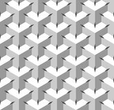 Seamless Geometric Pattern. Grayscale Background. Vector Stock Image