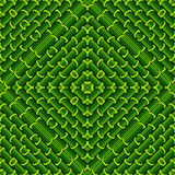 Seamless geometric pattern in green colors. Stock Images