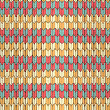 Seamless geometric pattern. Green yellow red cream pattern Royalty Free Illustration