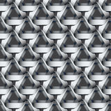 Seamless geometric pattern with grey ribbons texture. Royalty Free Stock Photography