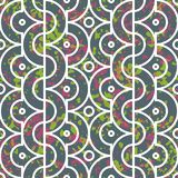 Seamless geometric pattern with half circles Stock Image