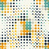 Seamless geometric pattern of halftone dots in Stock Images