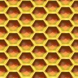 Seamless Geometric Pattern Of Heart In The Honeycomb. Vector Illustration Royalty Free Stock Image