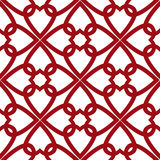 Seamless geometric pattern with hearts ornament illustration rom Royalty Free Stock Images