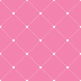 Seamless geometric pattern with hearts. repeating texture.Vector Royalty Free Stock Photos