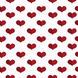 Seamless geometric pattern with hearts. Valentines day background. Flat background. Flat background with hearts. Seamless geometric pattern. Valentines day Stock Image
