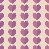 Seamless geometric pattern with hearts. Vector repeating texture royalty free illustration