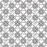 Seamless geometric pattern with hearts. Vector repeating texture Royalty Free Stock Photo