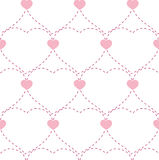 Seamless geometric pattern with hearts. Vector repeating texture. background Valentines Day hearts seamless pattern royalty free illustration