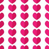 Seamless geometric pattern with hearts. stock illustration