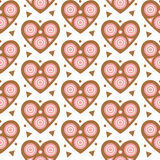Seamless geometric pattern with hearts Royalty Free Stock Photography