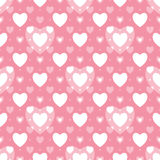 Seamless geometric pattern with hearts Stock Images