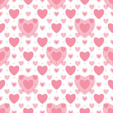 Seamless geometric pattern with hearts Royalty Free Stock Image