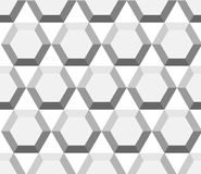 Seamless geometric pattern with hexagons Stock Image