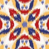 Seamless geometric pattern, ikat fabric style. Seamless geometric pattern, based on ikat fabric style. Vector illustration stock illustration
