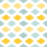 Seamless geometric pattern, ikat fabric style. Royalty Free Stock Photos