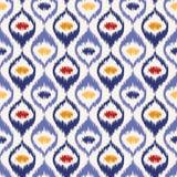 Seamless geometric pattern, ikat fabric style. Stock Images