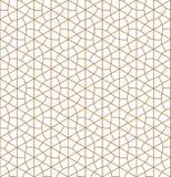 Seamless geometric pattern inspired by Japanese Kumiko ornament royalty free illustration
