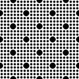 Seamless geometric pattern with large and small polka dot. S . Vector illustration Stock Illustration