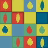Seamless geometric pattern with leaves Stock Photography