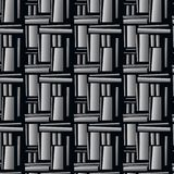 Seamless geometric pattern made of metal plates. Seamless geometric pattern of metal plates. Monochrome abstract composition, in the style of techno royalty free illustration