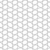 Seamless geometric pattern, many eggs nicely arranged on white background, stripes abstract template, vector illustration Stock Images
