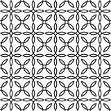 Seamless geometric pattern. Modern background in black and white style. Vector geometric grid Stock Photography