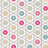 Seamless geometric pattern. Modern vector texture. Repeating abstract background in pastel colors. Seamless geometric pattern. Modern vector texture. Repeating royalty free illustration