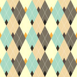 Seamless geometric pattern with multicolored diamond. Royalty Free Stock Images