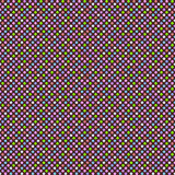 Seamless geometric pattern with multicolored polka dots. Vector Royalty Free Stock Photography