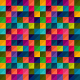 Seamless geometric pattern in multicolour. Ed square Stock Photos
