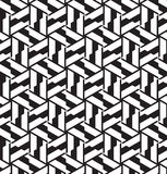 Seamless geometric pattern in op art design. Stock Photos