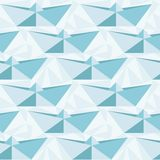 Seamless geometric pattern with origami boats.  Stock Images