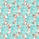 Seamless geometric pattern with origami elements.  Royalty Free Stock Photos