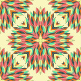 Seamless geometric pattern with ornamental rectangles Stock Photography