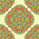 Seamless geometric pattern with ornamental rectangles Stock Image